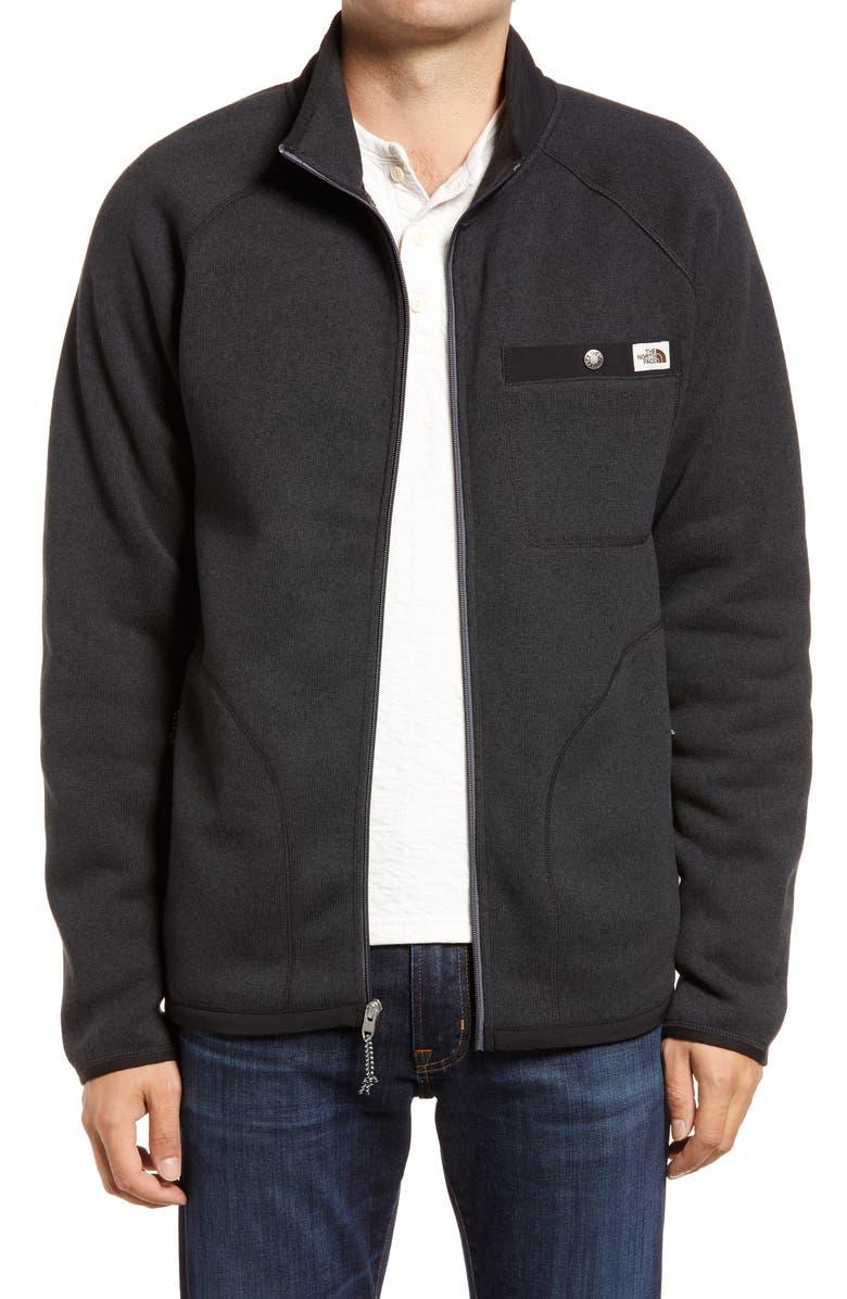 THE NORTH FACE Men's Gordon Lyons Full Zip Jacket, Main, color, TNF BLACK HEATHER