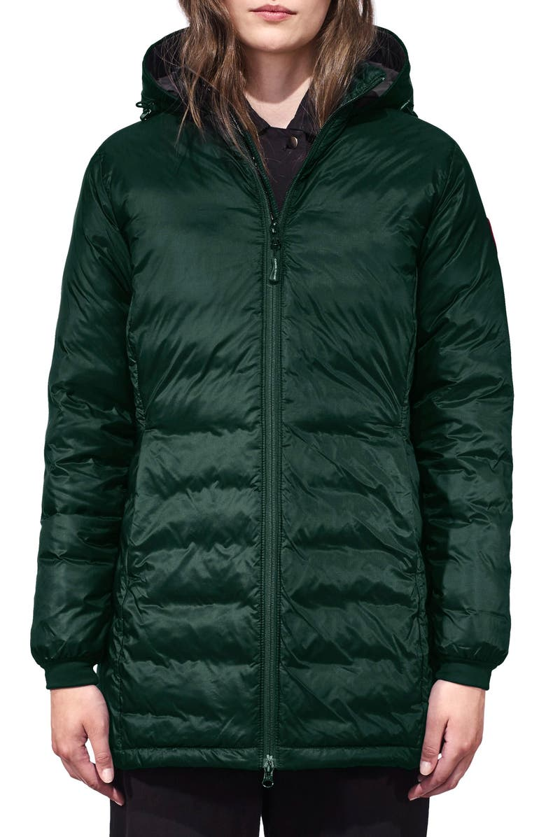 CANADA GOOSE Camp Fusion Fit Packable Down Jacket, Main, color, SPRUCE/ BLACK