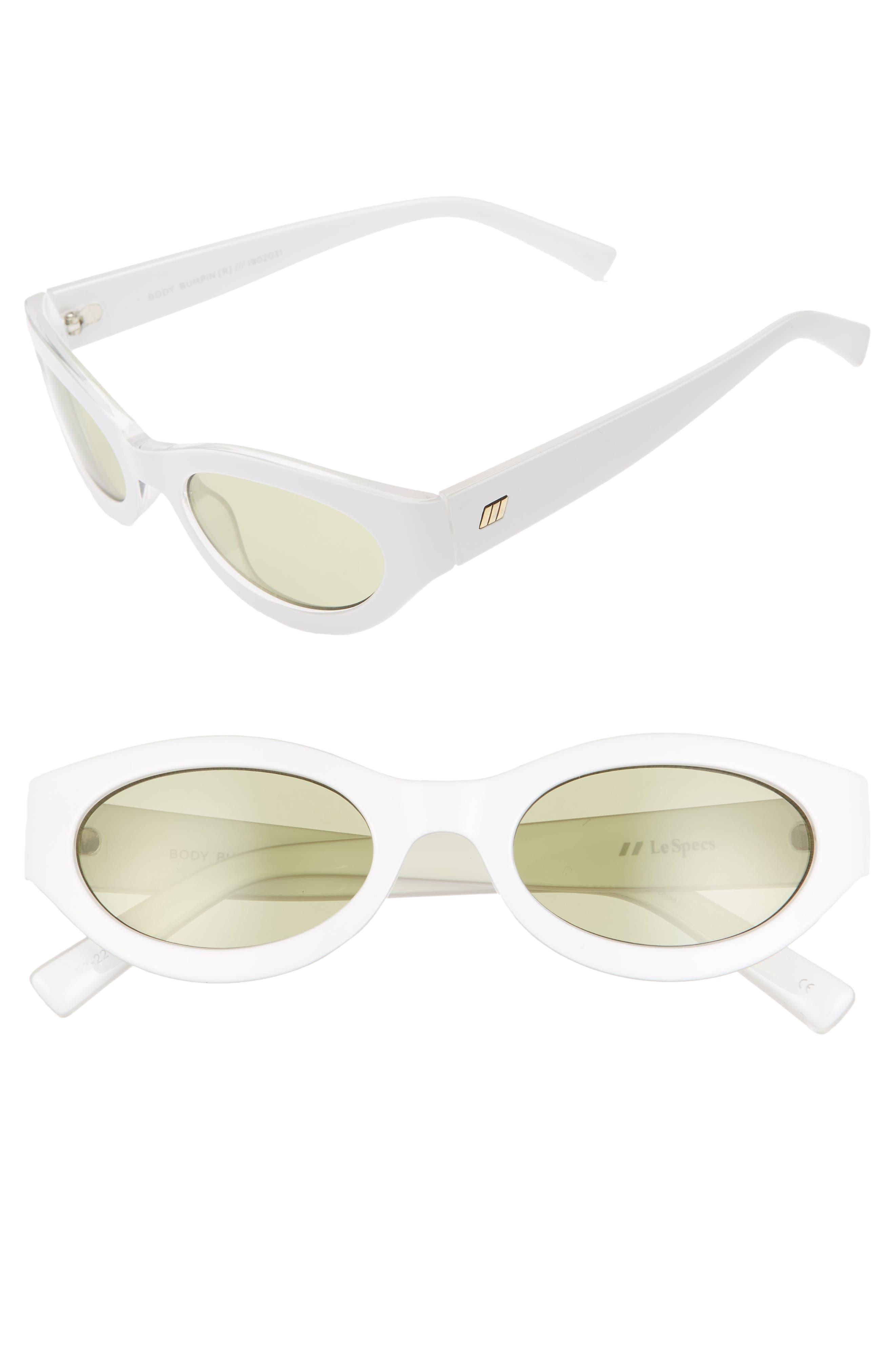 Le Specs Body Bumpin 42Mm Sunglasses - White
