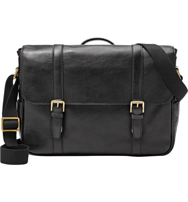FOSSIL 'Estate' Messenger Bag, Main, color, 001