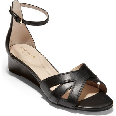 Cole Haan Hana Grand Wedge Sandal B - Black