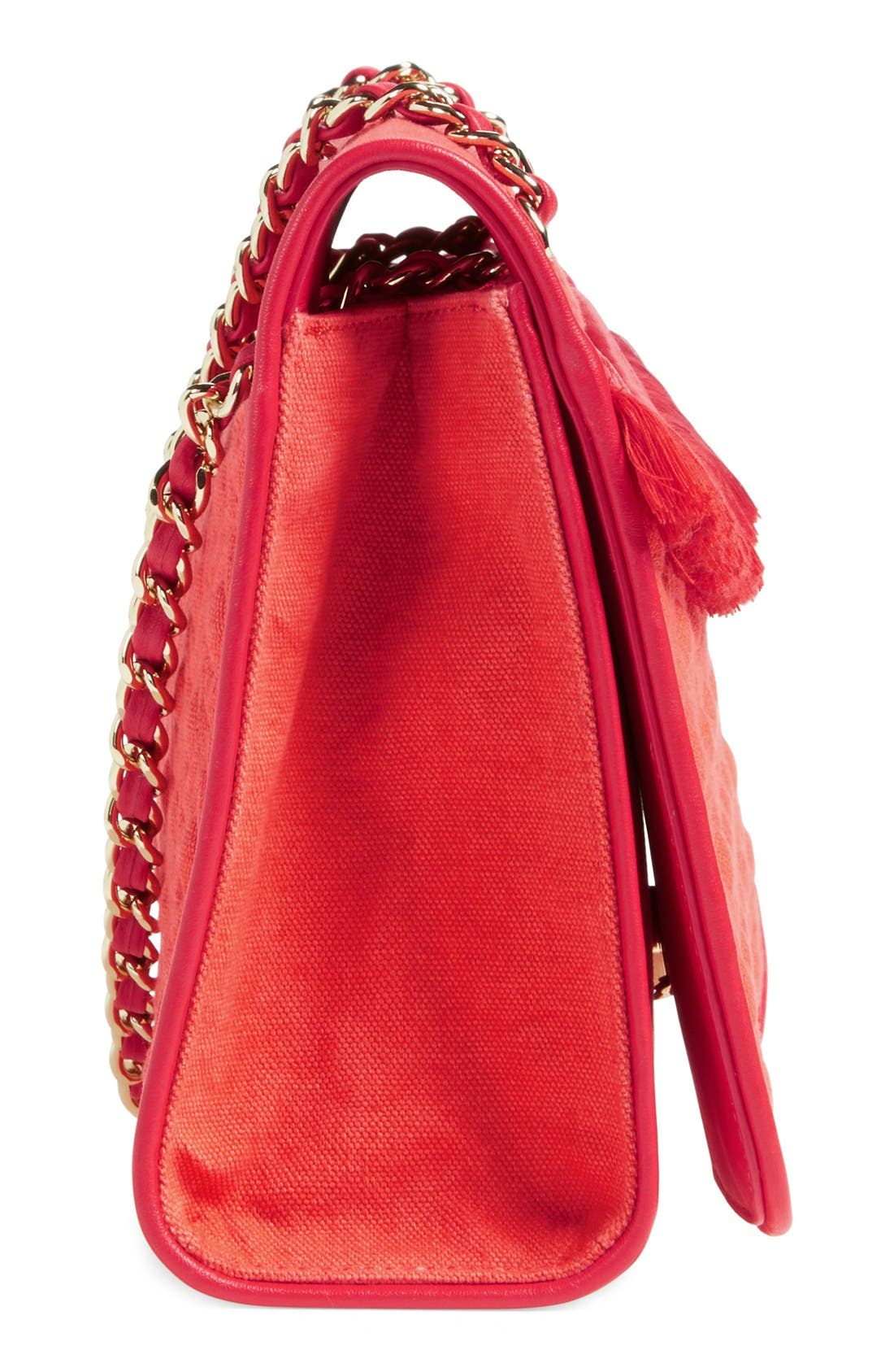 ,                             'Medium Fleming' Fringe Shoulder Bag,                             Alternate thumbnail 2, color,                             600