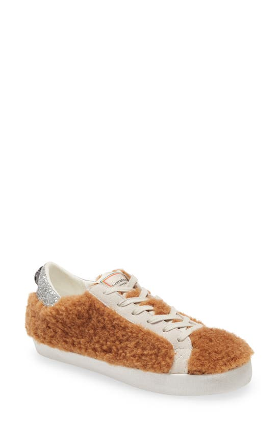 Kurt Geiger Women's Lexi Eagle Faux Fur Low Top Sneakers In Light/ Pastel Brown