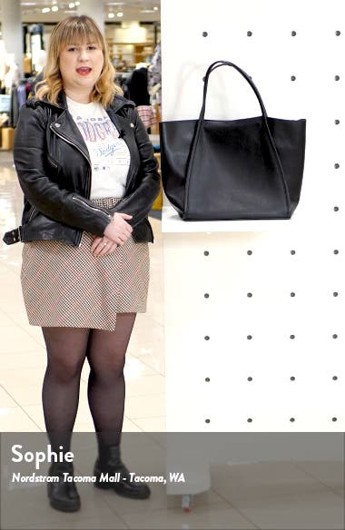Oversize Leather Tote, sales video thumbnail