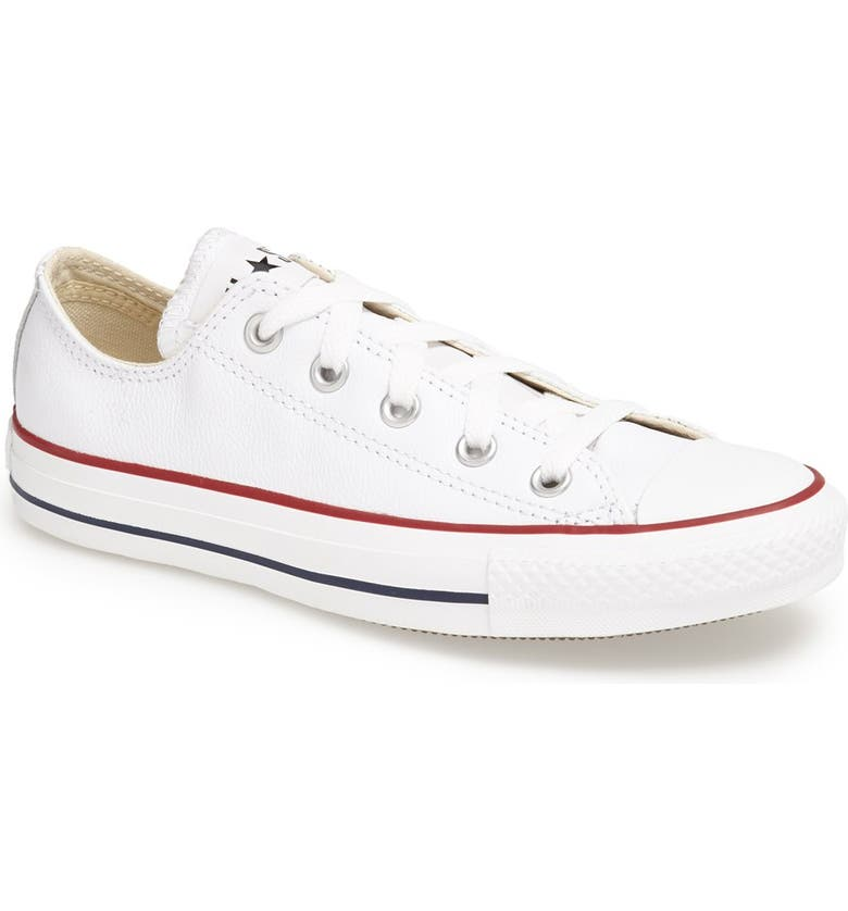 CONVERSE Chuck Taylor<sup>®</sup> All Star<sup>®</sup> Leather Sneaker, Main, color, 100