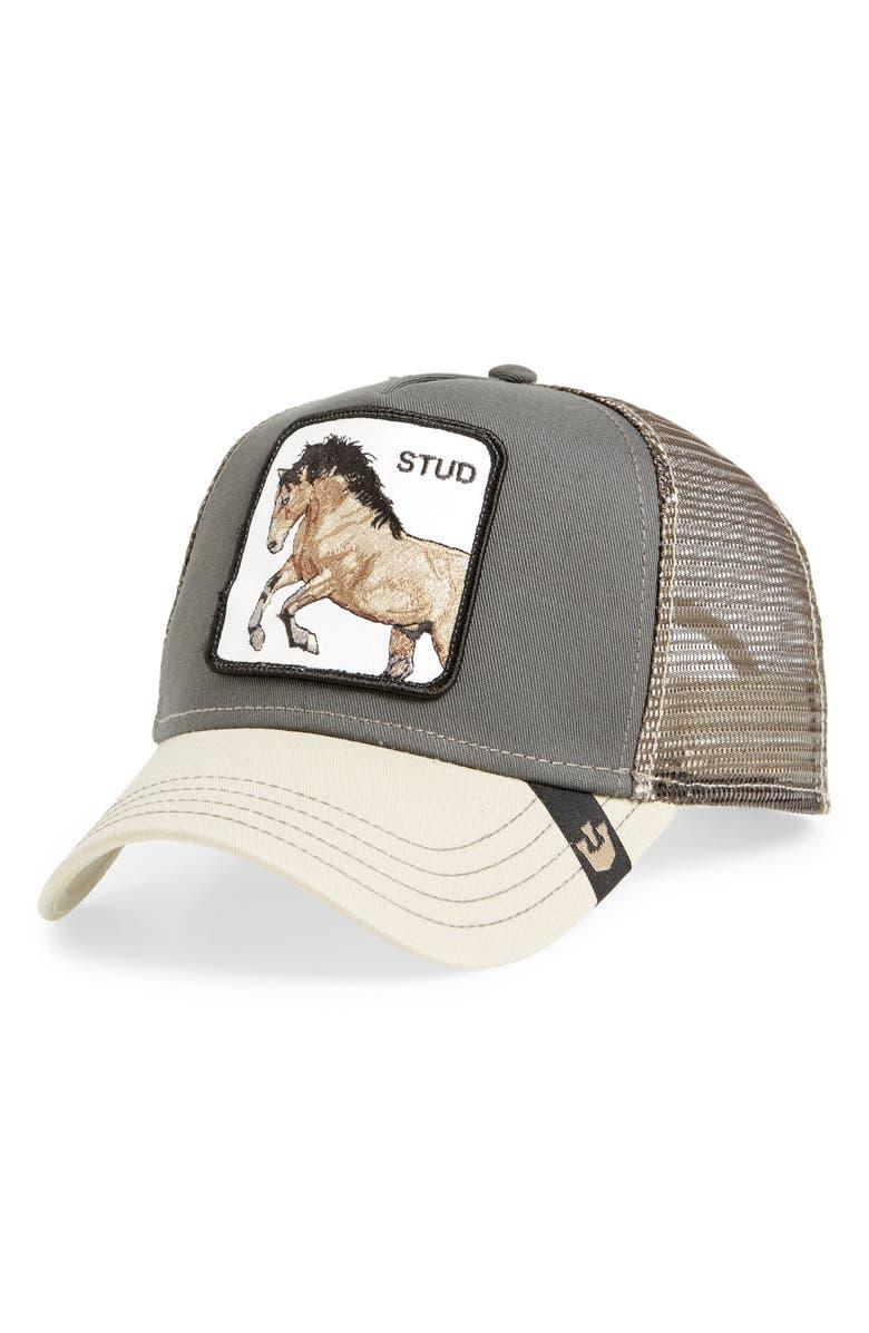 GOORIN BROS. You Stud Trucker Hat, Main, color, 020