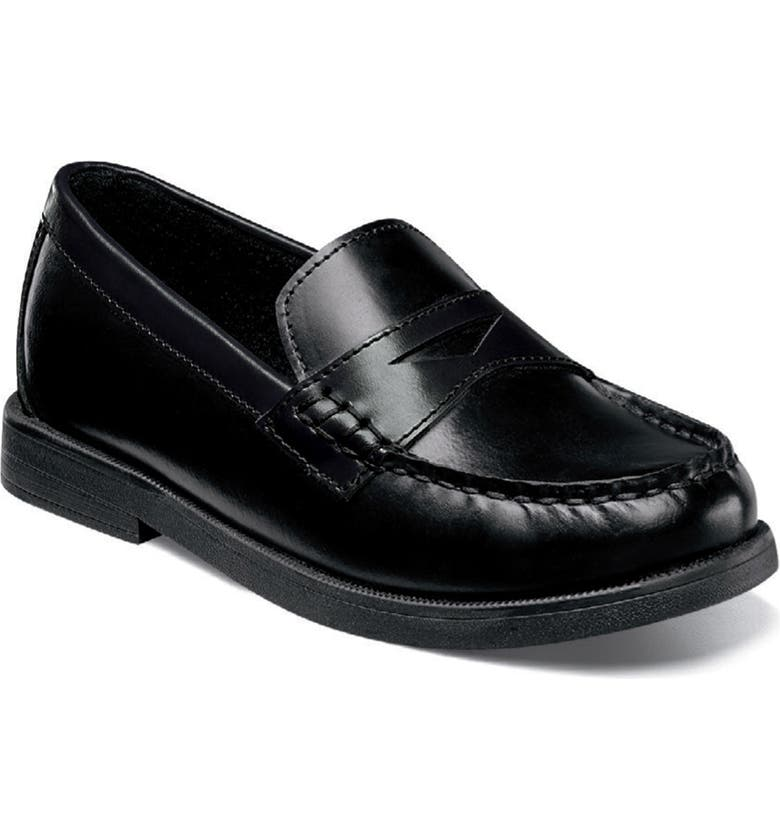 FLORSHEIM 'Croquet' Penny Loafer, Main, color, BLACK