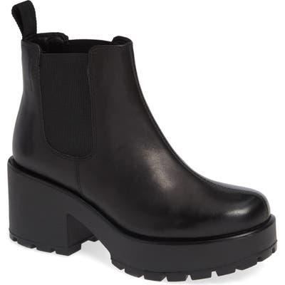 Vagabond Shoemakers Dioon Platform Chelsea Bootie - Black