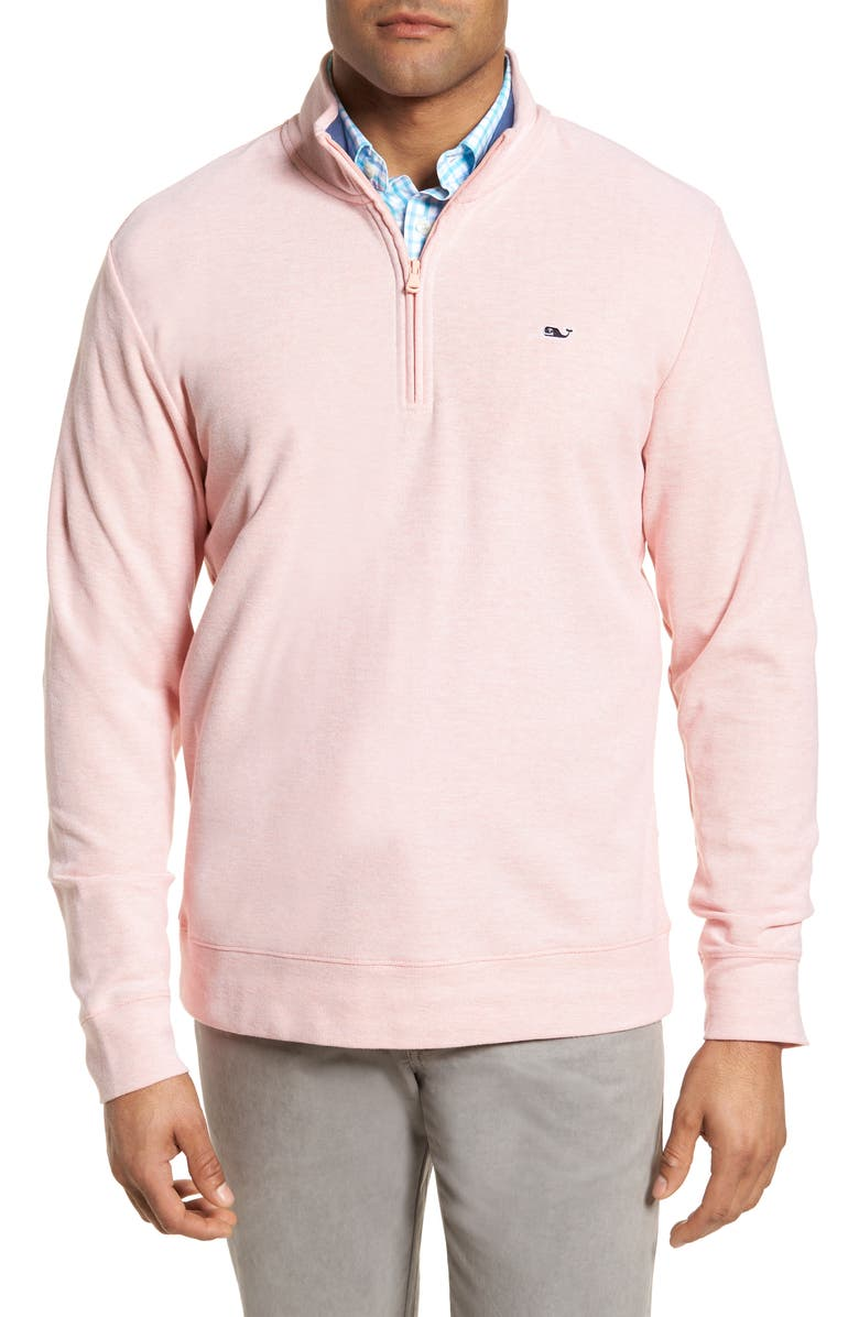 VINEYARD VINES Breaker Saltwater Quarter Zip Pullover, Main, color, 821