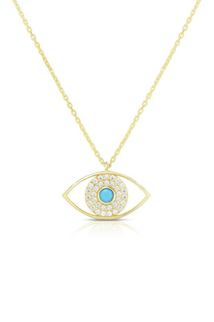 Image of Sphera Milano 14K Gold Plated Sterling Silver Evil Eye Necklace