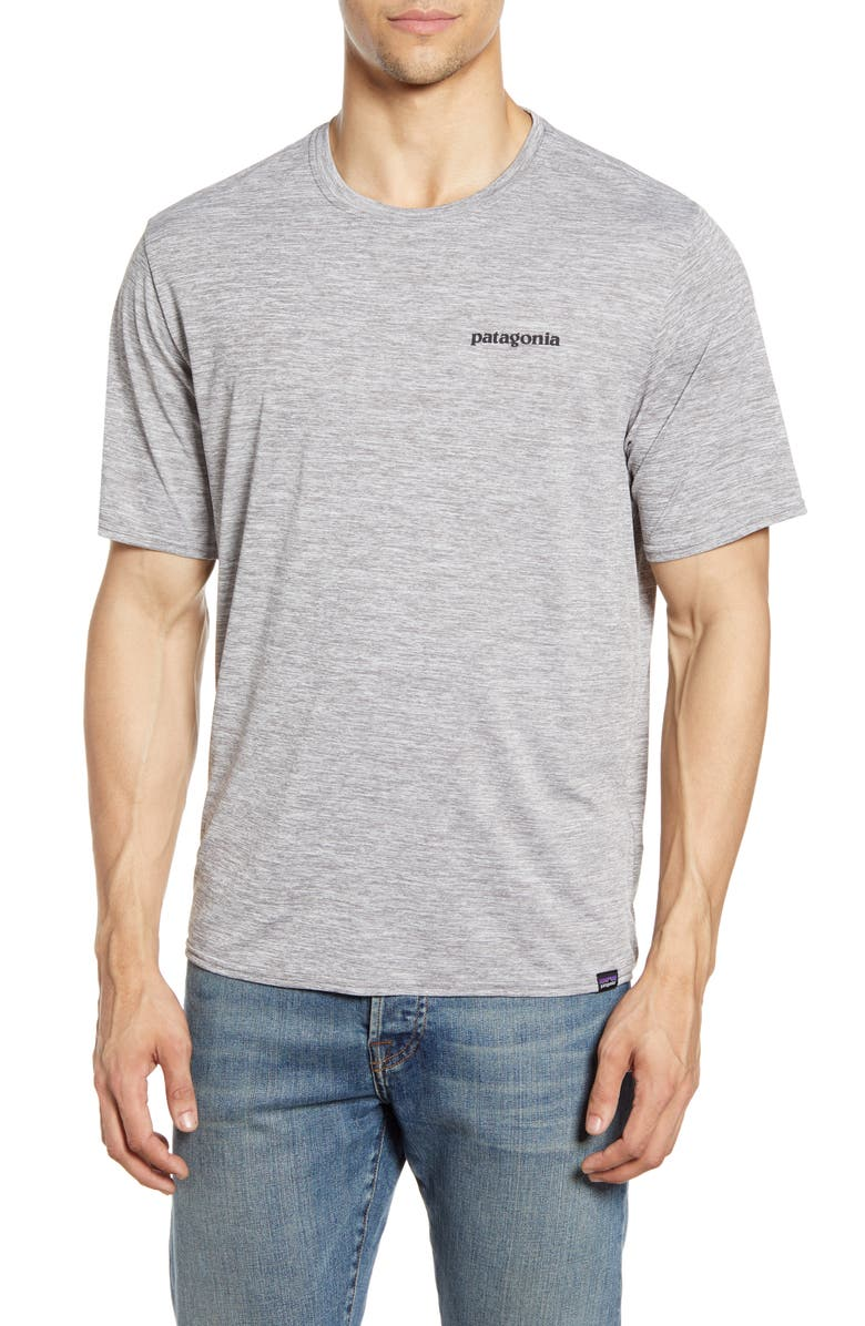 PATAGONIA Capilene<sup>®</sup> Cool Daily Graphic T-Shirt, Main, color, FITZ ROY TROUT FEATHER GREY