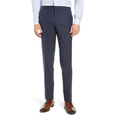 Nordstrom Shop Tech-Smart Slim Fit Stretch Wool Dress Pants, Blue