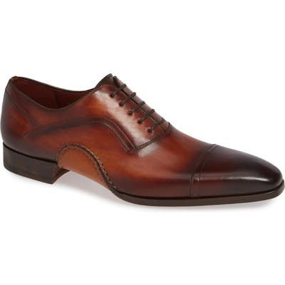Magnanni Jude Cap Toe Oxford, Brown