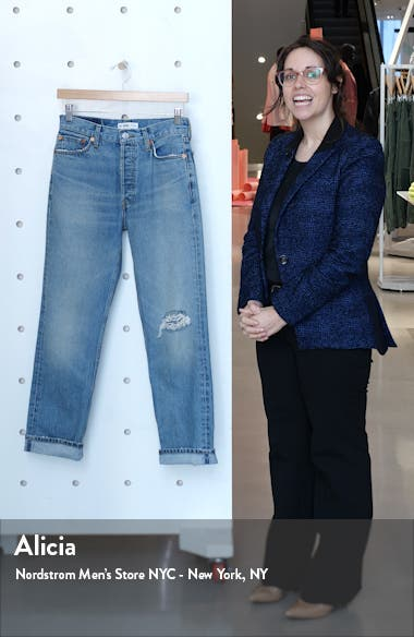 '90s Ripped Loose Straight Leg Jeans, sales video thumbnail