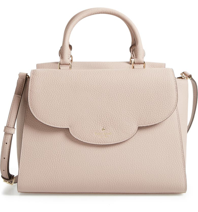 KATE SPADE NEW YORK leewood place makayla leather satchel, Main, color, 228
