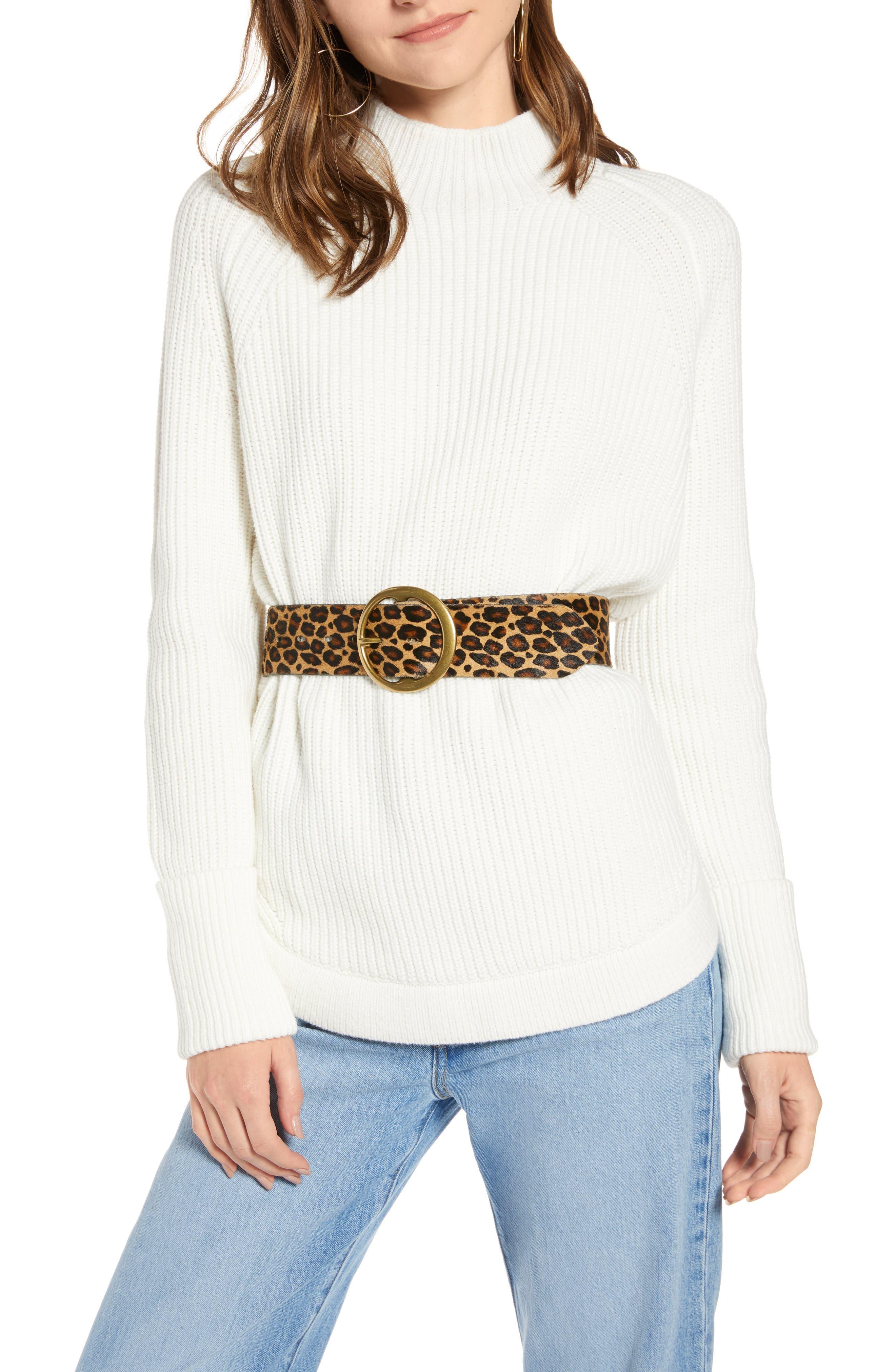 Treasure & Bond Mock Neck Sweater (Regular & Plus Size)