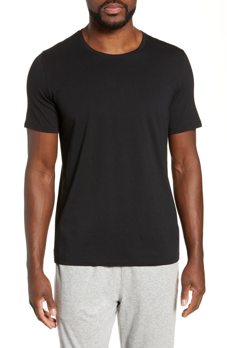 TOMMY JOHN Cotton Blend Crewneck T-Shirt, Main, color, BLACK