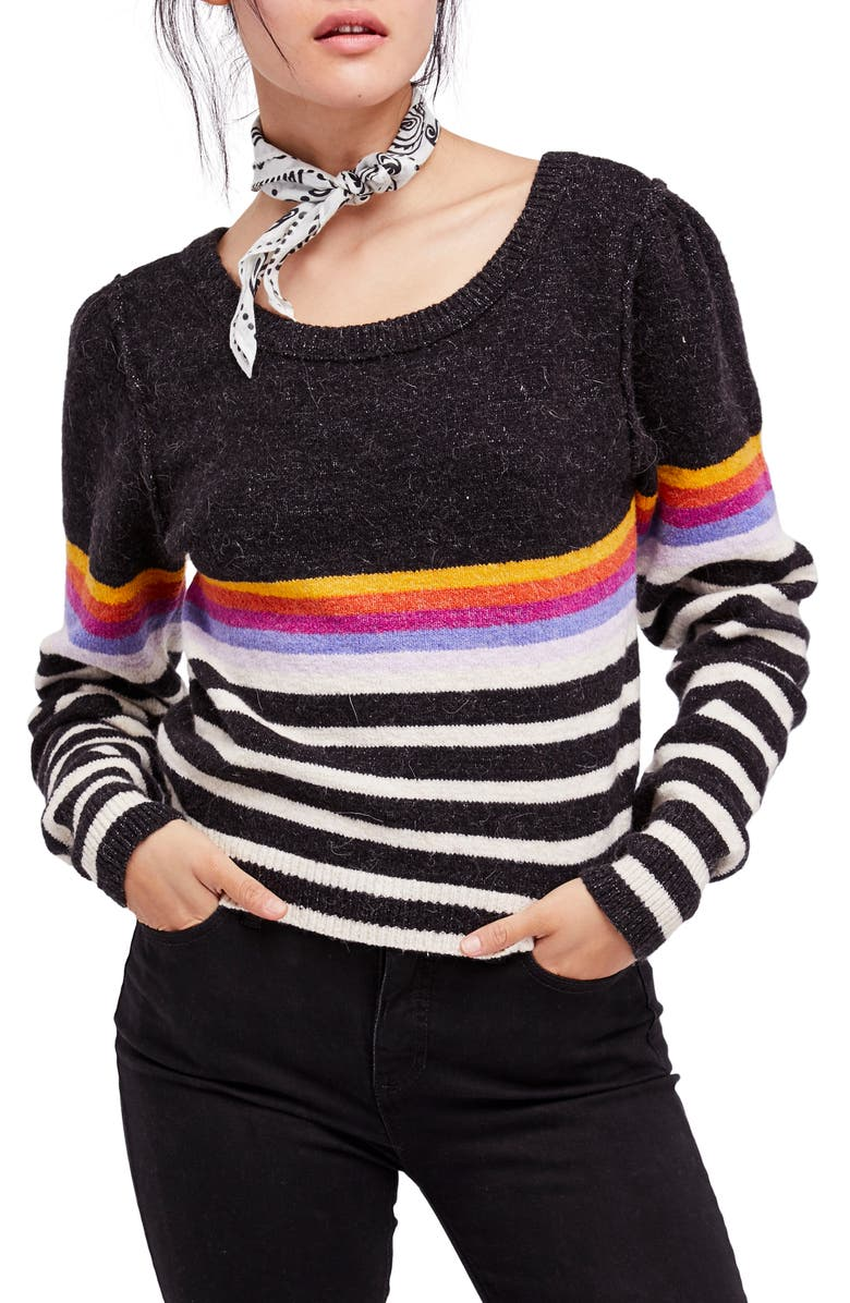 FREE PEOPLE Complete Me Sweater, Main, color, 001