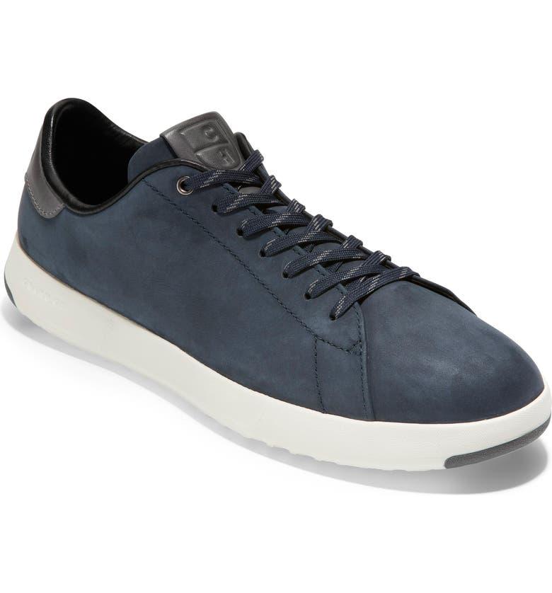 COLE HAAN GrandPro Low Top Sneaker, Main, color, NAVY NUBUCK / GRAY