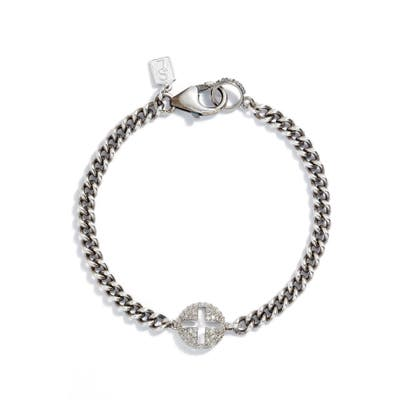 Sheryl Lowe Cross Curb Chain Bracelet