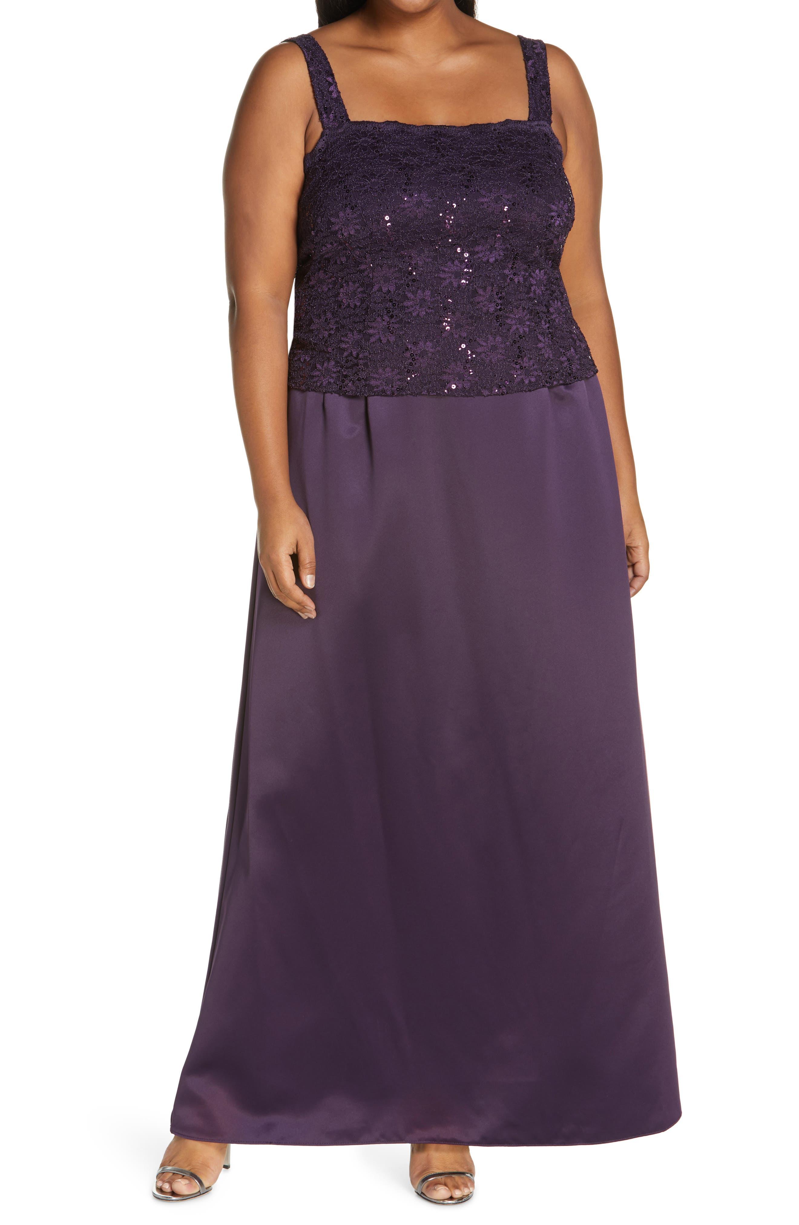 Plus Size Women's Alex Evening A-Line Gown & Lace Jacket