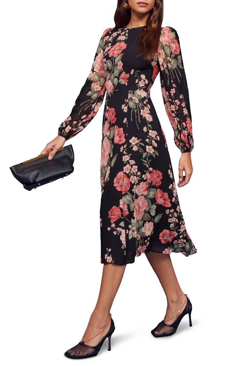 REFORMATION Luanne Midi Dress, Main, color, LOUISE