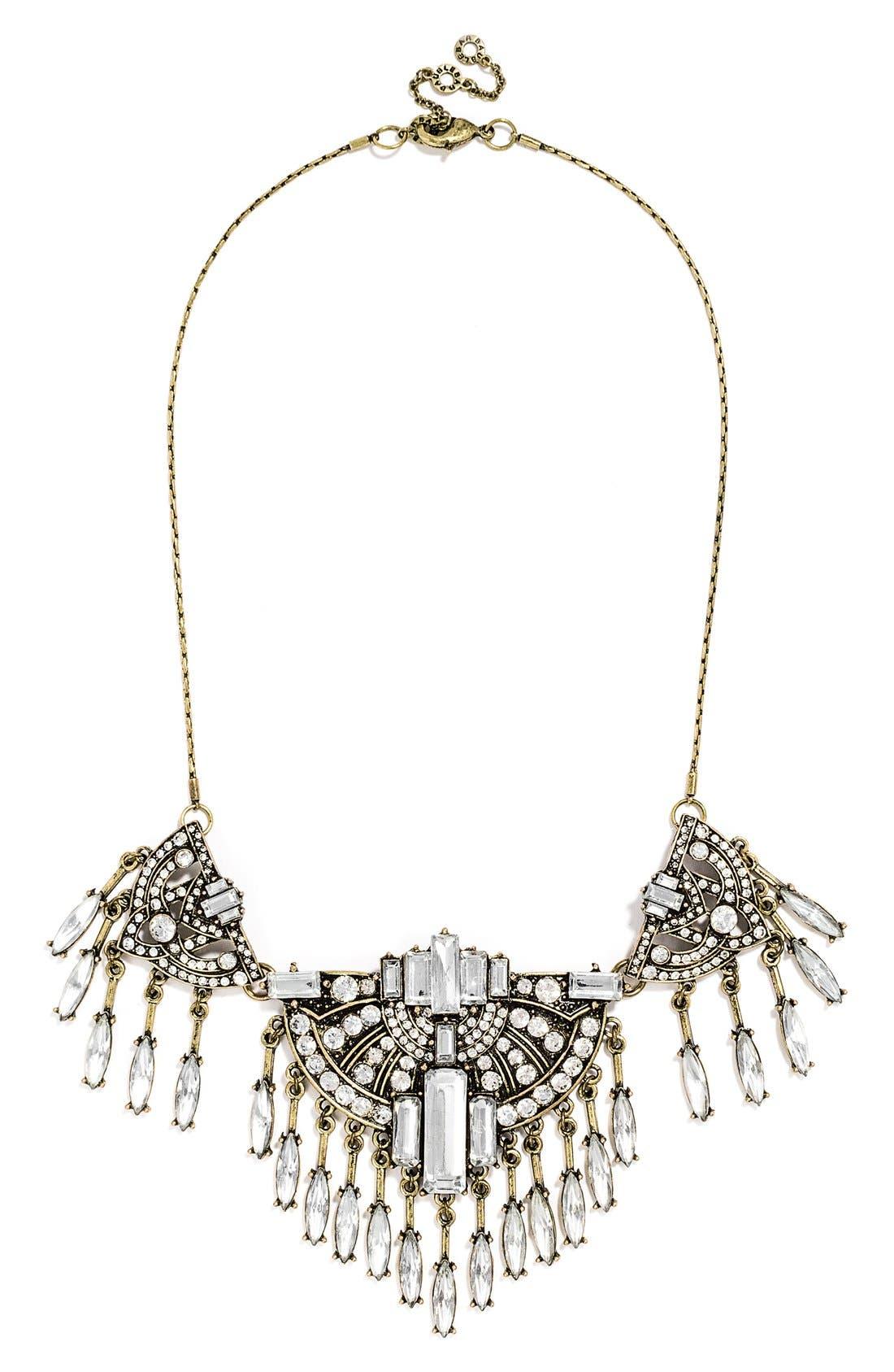 'Zelda' Fringe Bib Necklace, Main, color, 710