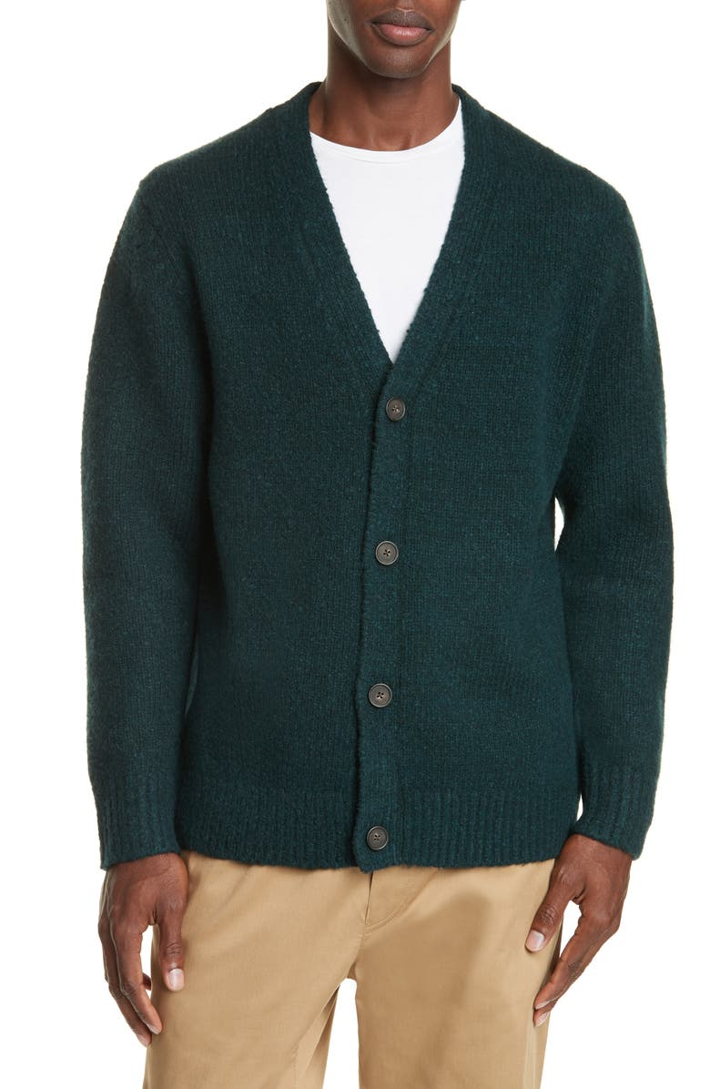 ACNE STUDIOS Kabelo Wool & Cashmere Blend Cardigan, Main, color, BOTTLE GREEN