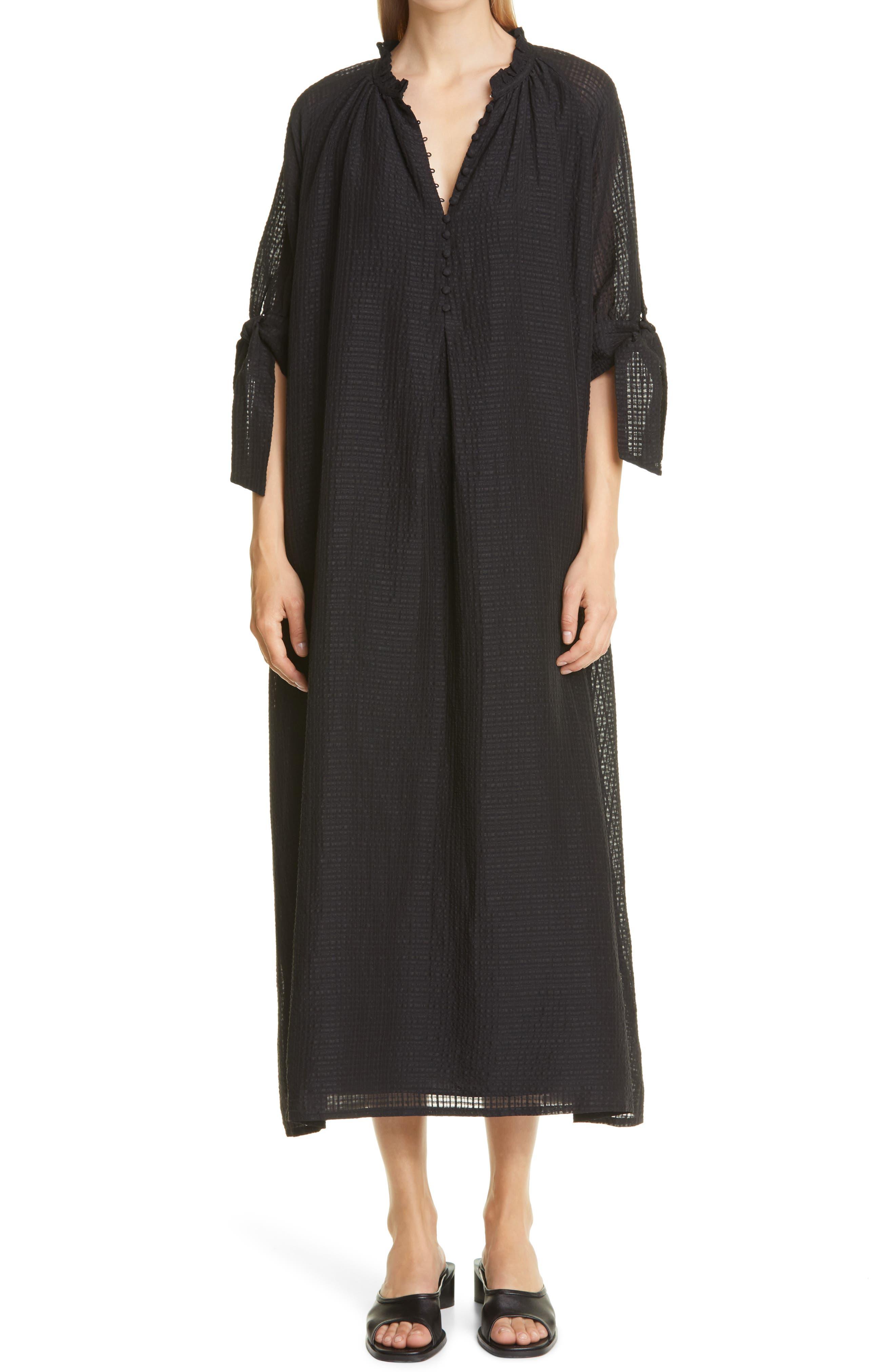 Giselle Tie Sleeve Organic Cotton Dress