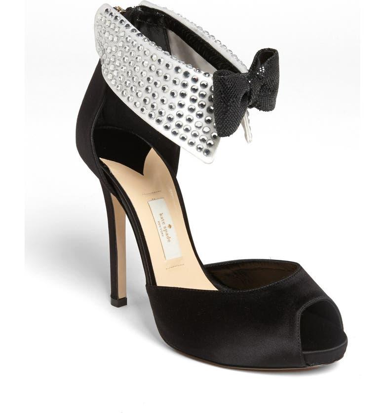 KATE SPADE NEW YORK 'black tie' pump, Main, color, 001