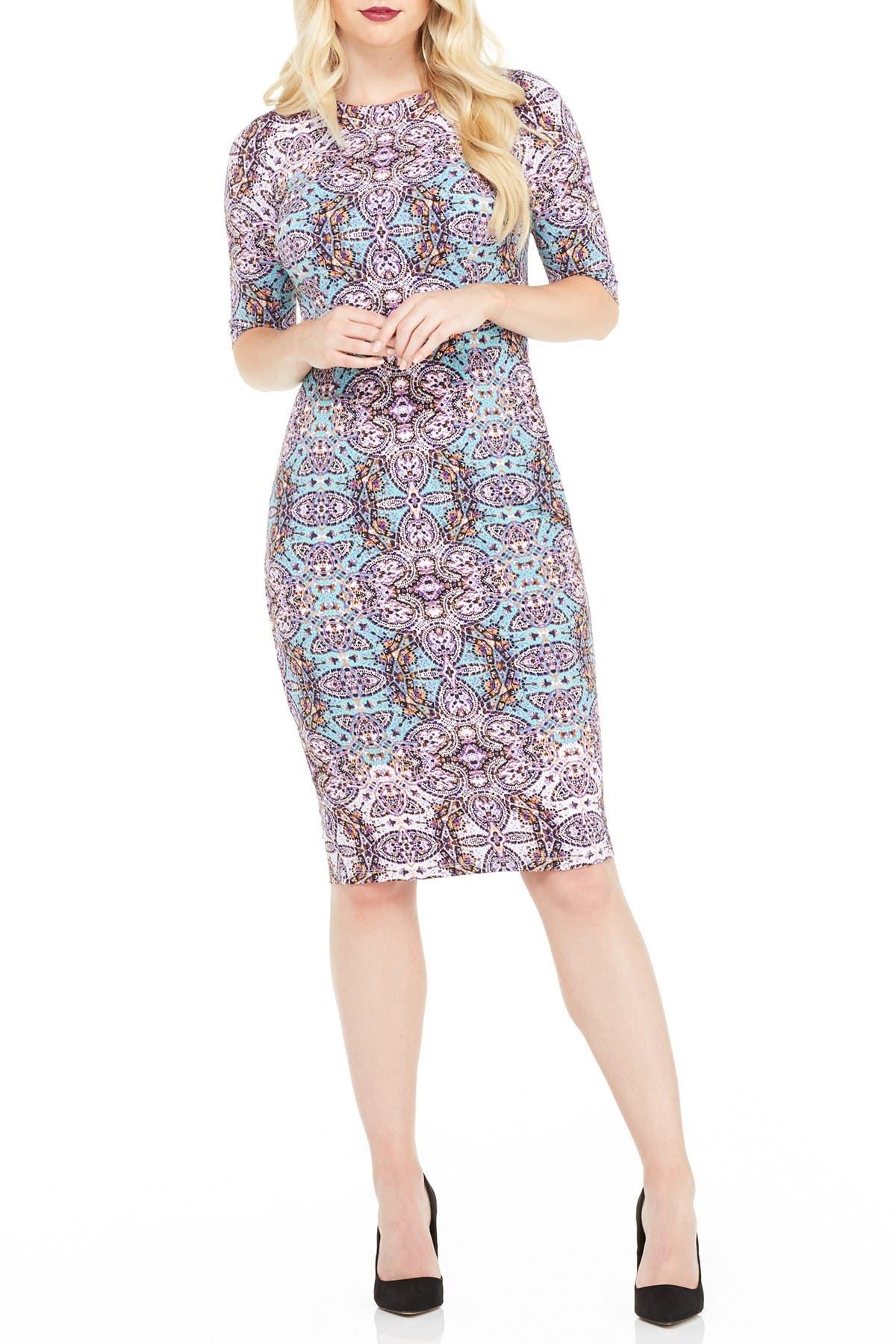 Image of Maggy London Morgan Printed Midi Dress