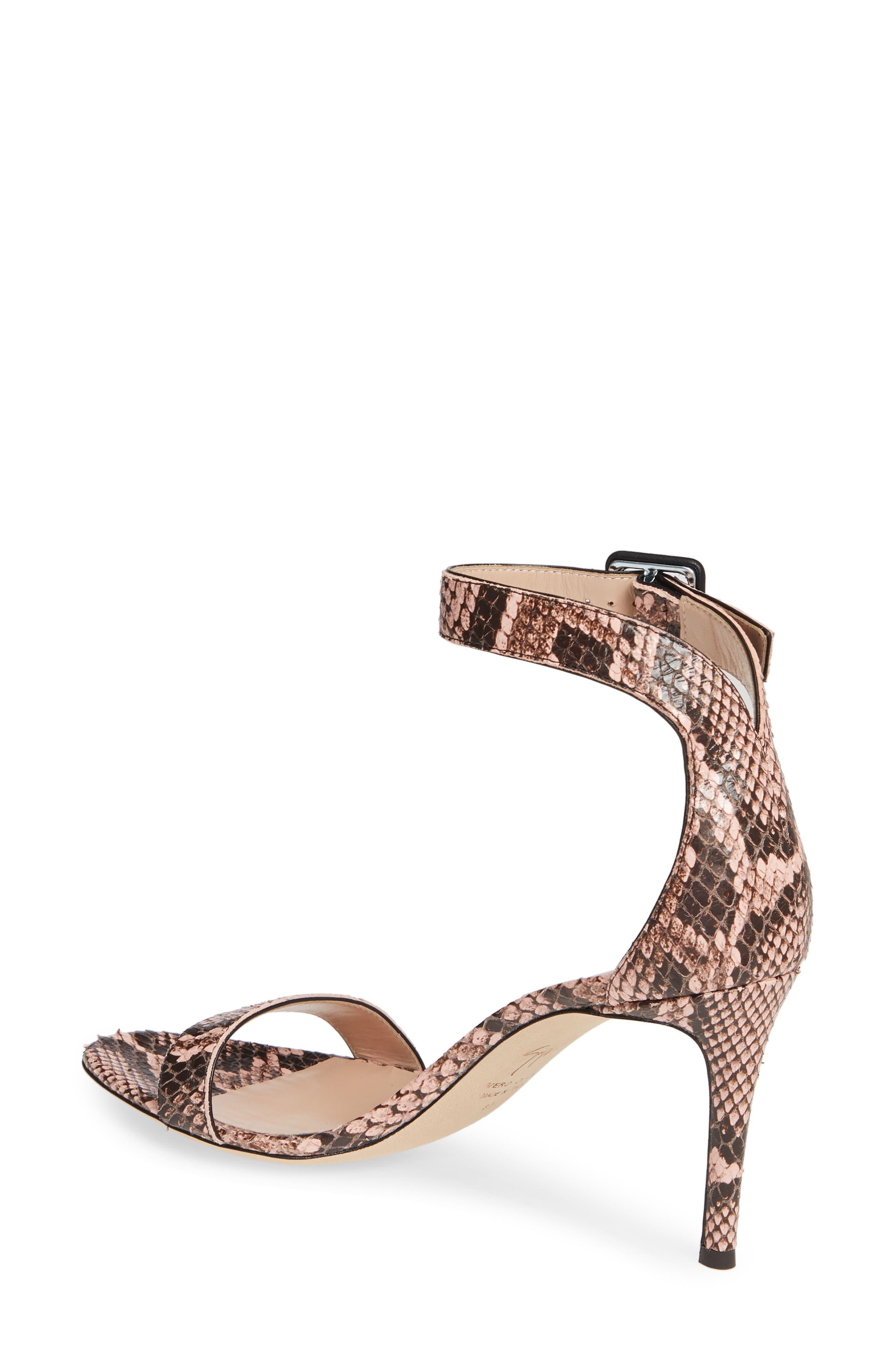 ,                             Snake Embossed Ankle Strap Sandal,                             Alternate thumbnail 2, color,                             PINK SNAKEPRINT