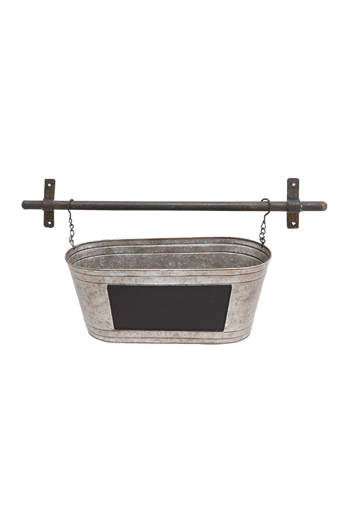 Image of Willow Row Grey Farmhouse Hanging Tub Planter
