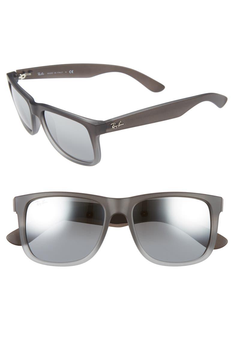 RAY-BAN 54mm Sunglasses, Main, color, BLACK/ GREY GRADIENT