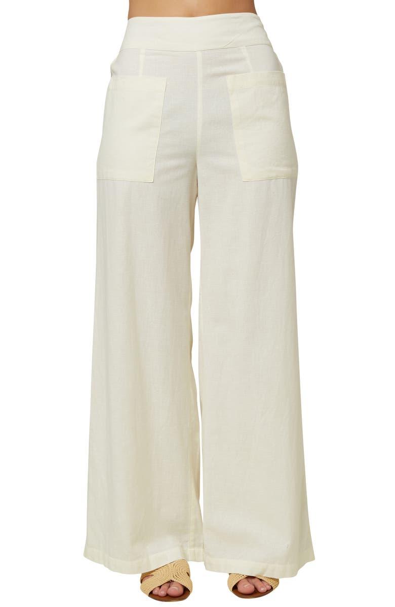 O'NEILL La Playa Wide Leg Pants, Main, color, WINTER WHITE