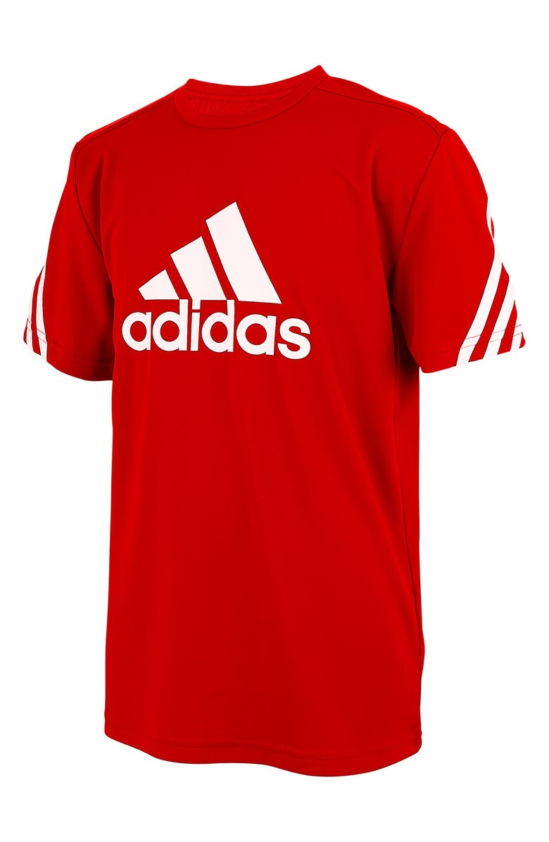 ADIDAS Pack Graphic Tee, Main, color, SCARLET RED