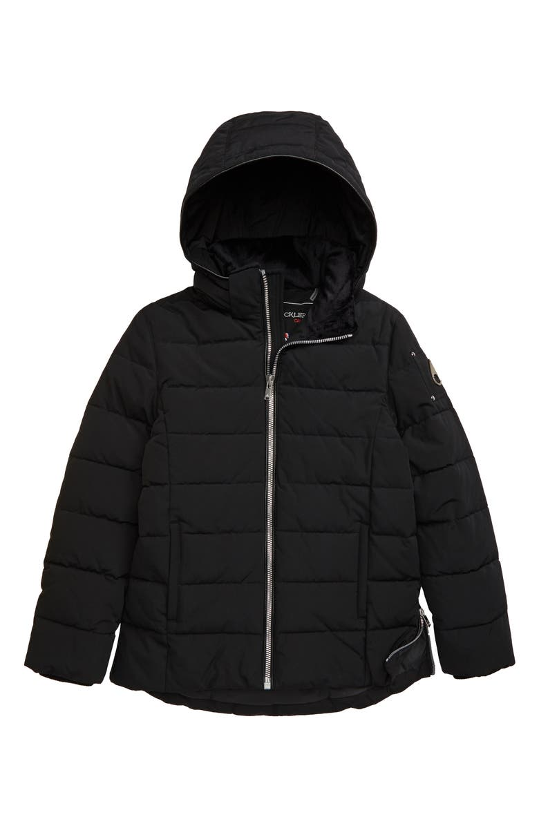MOOSE KNUCKLES 3Q Hooded Puffer Jacket, Main, color, CHAMBRAY/ BLACK FOX