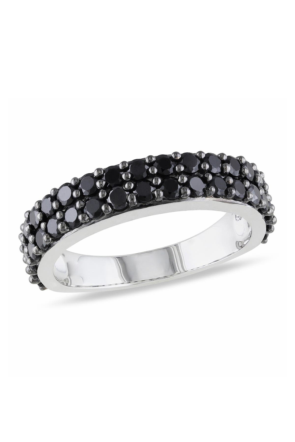 Image of Delmar Pave Black Spinel Double Row Band