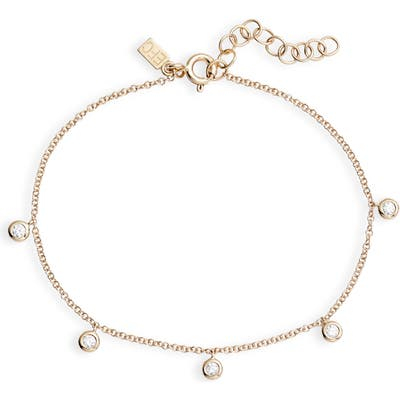 Ef Collection Bezel Diamond Chain Bracelet