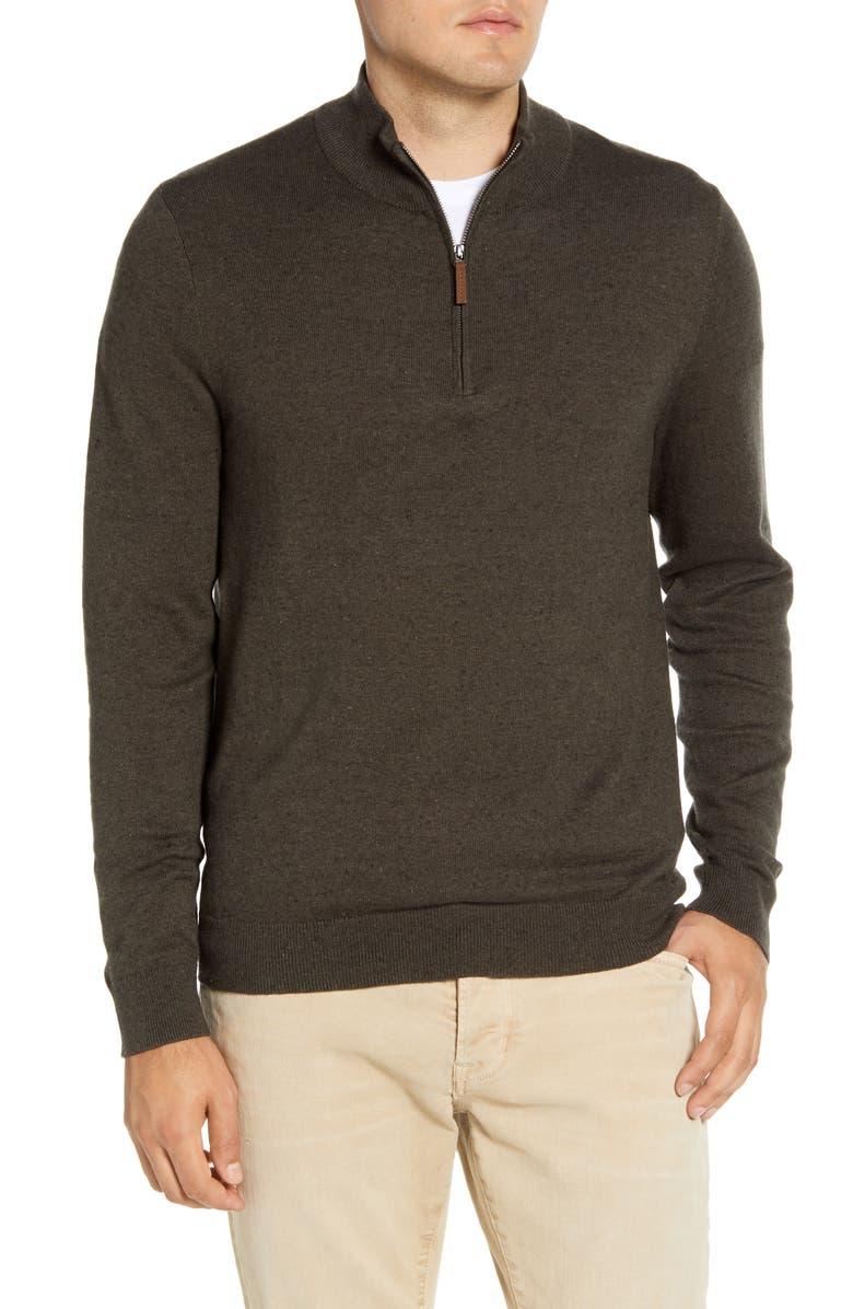 Half Zip Cotton & Cashmere Pullover