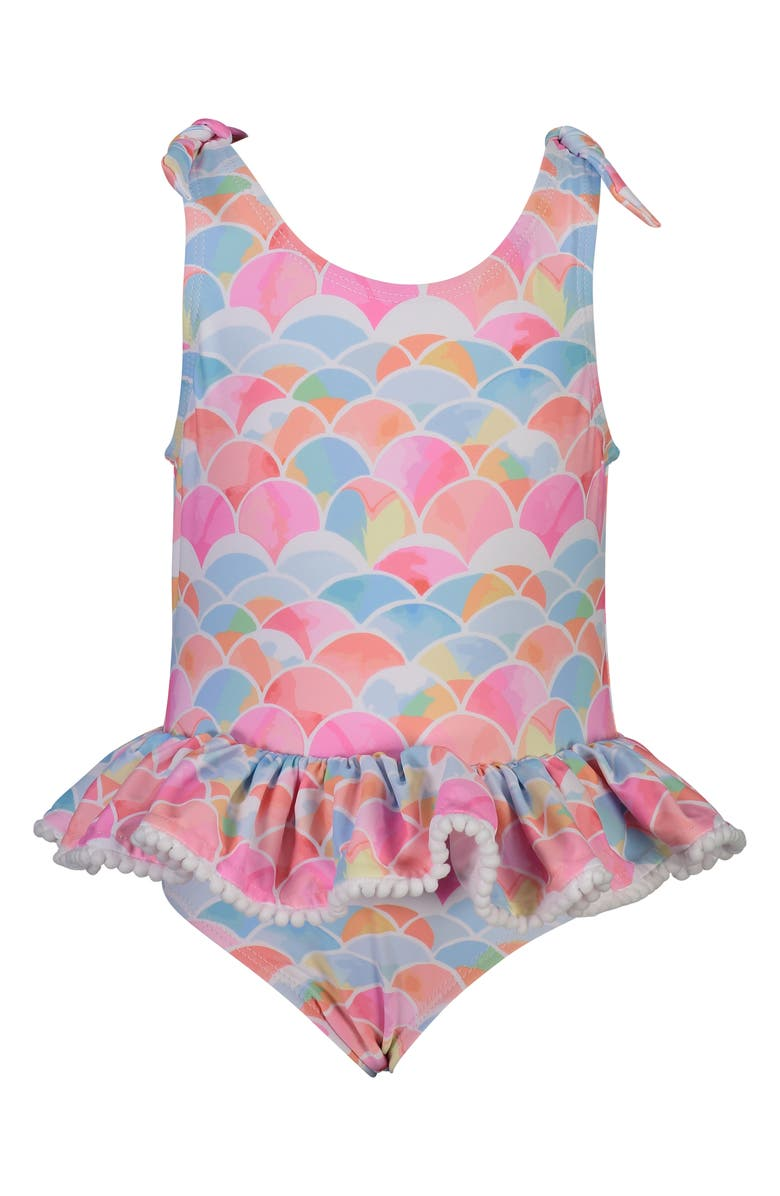 SNAPPER ROCK Rainbow Connection Skirted One-Piece Swimsuit, Main, color, RAINBOW CONNECTION