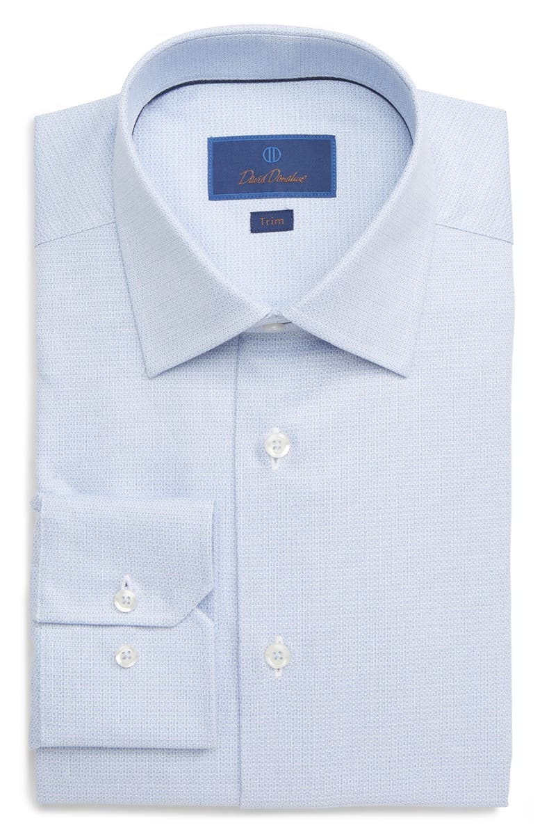 DAVID DONAHUE Trim Fit Geometric Dress Shirt, Main, color, 423
