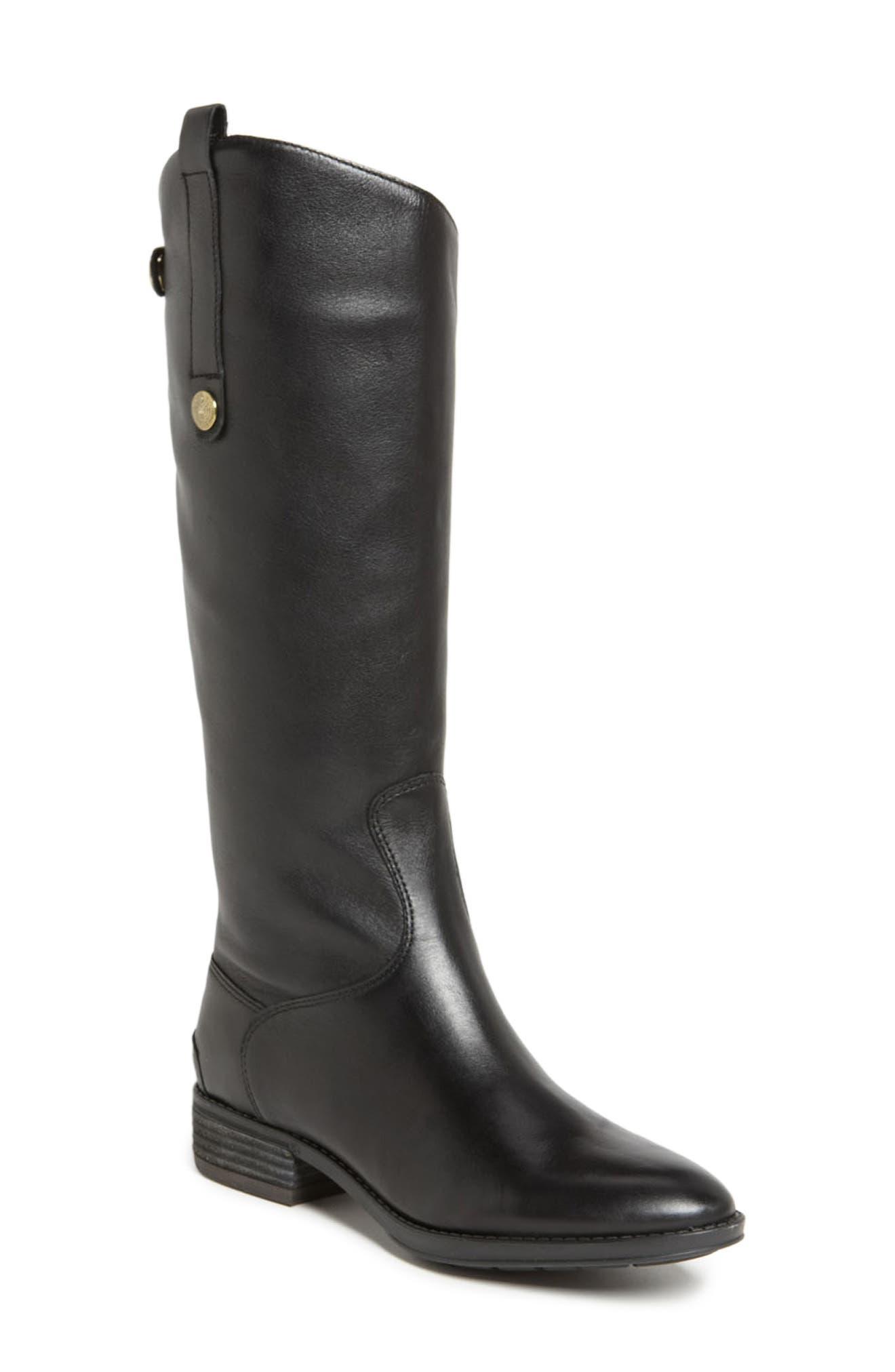 Penny Boot, Main, color, BLACK WIDE CALF