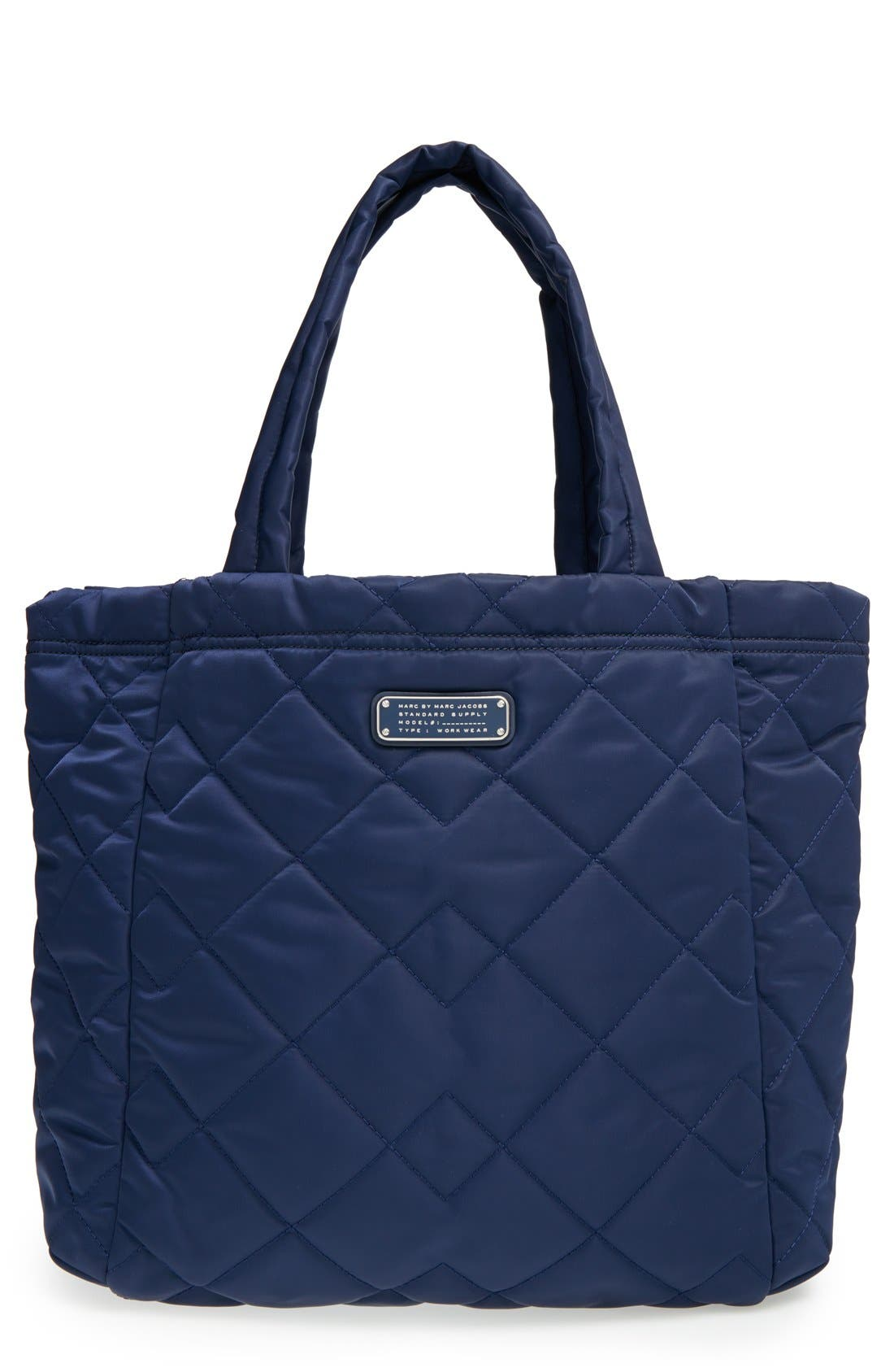 ,                             MARC BY MARC JACOBS 'Crosby' Quilted Nylon Tote,                             Main thumbnail 3, color,                             401