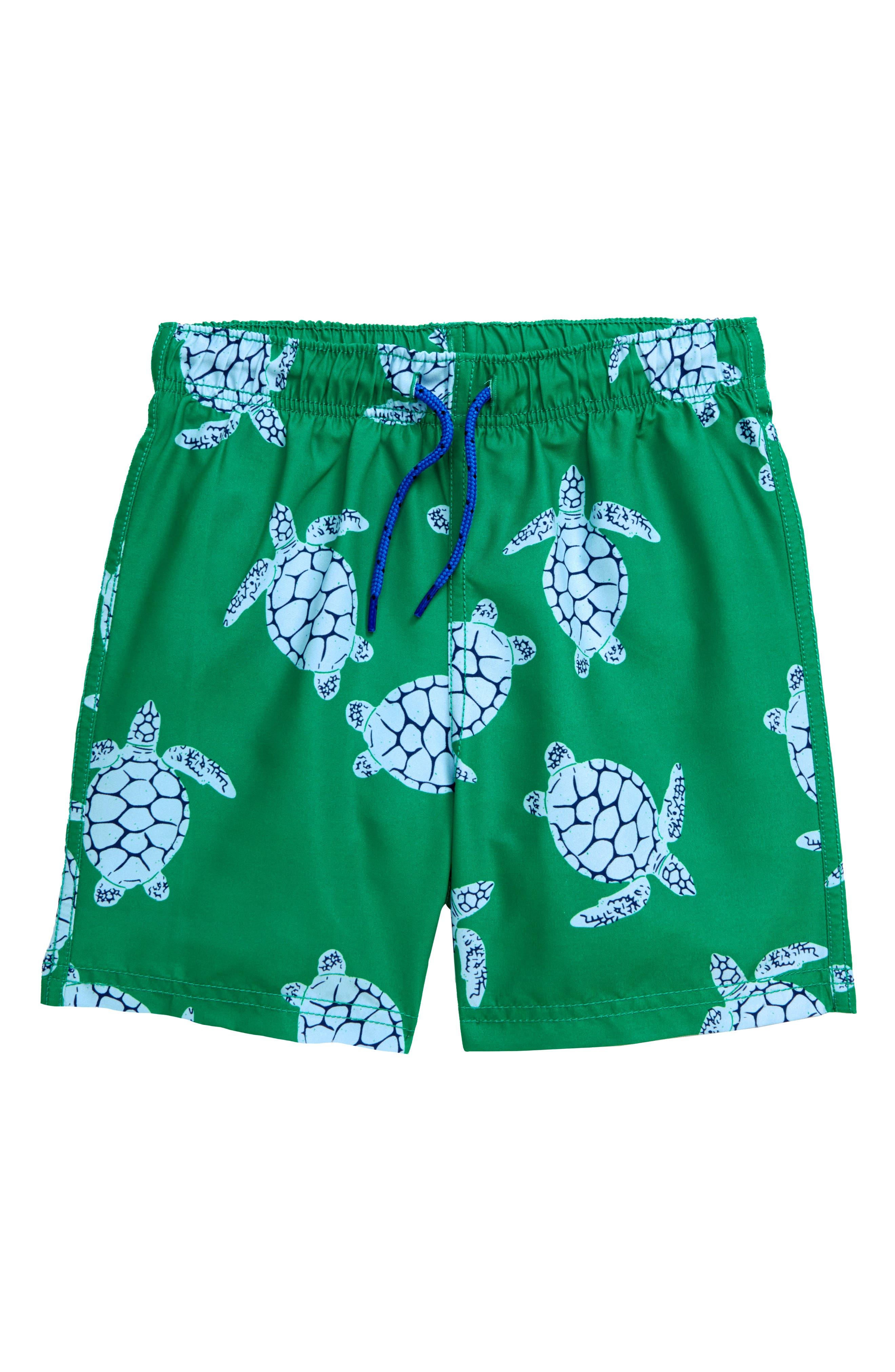 Women Turtle Print Art Athletic Beach Shorts Board Shorts Pants