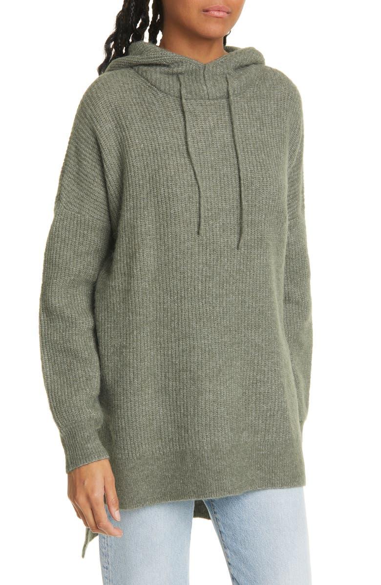 GANNI Oversize Hoodie Sweater, Main, color, KALAMATA