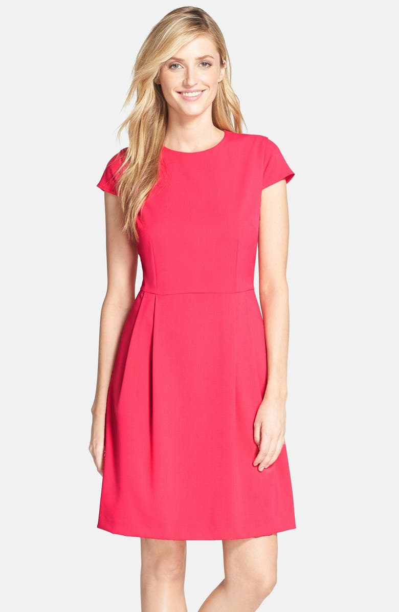 MARC NEW YORK by Andrew Marc Stretch Fit & Flare Dress, Main, color, 650