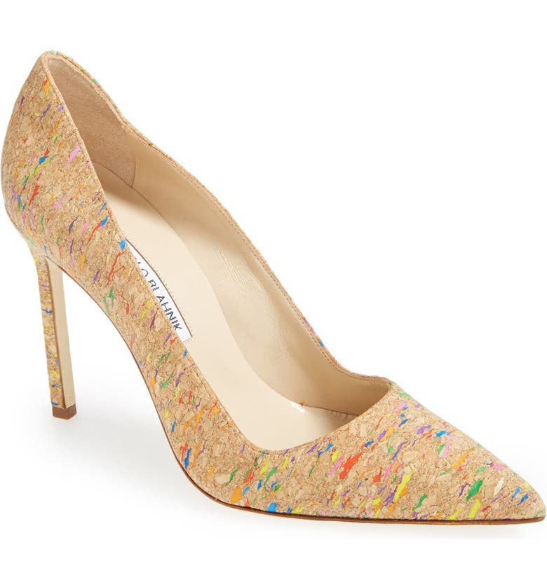 MANOLO BLAHNIK 'BB' Cork Pump, Main, color, 200