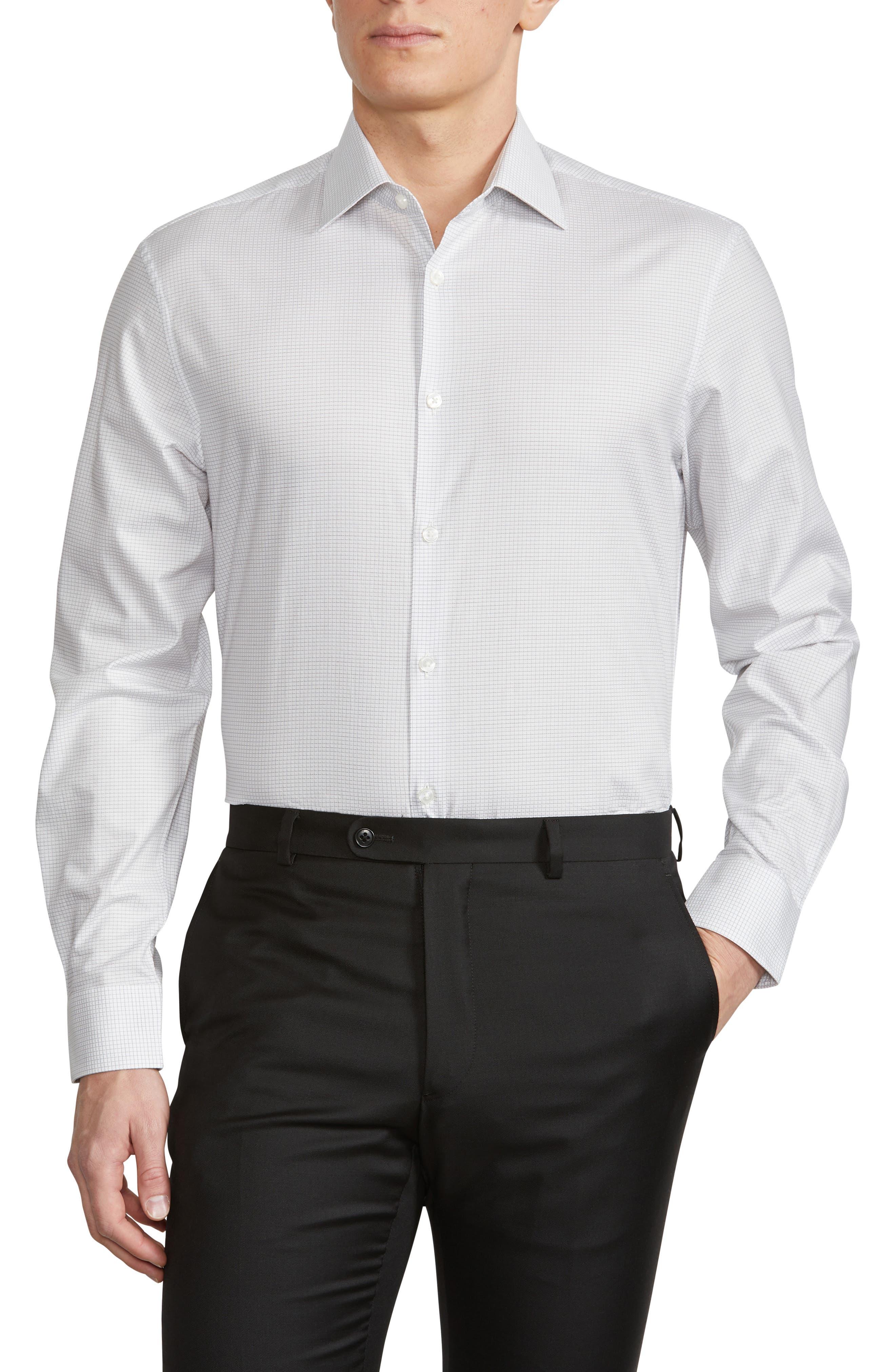 Men's John Varvatos Star Usa Trim Fit Stretch Dress Shirt