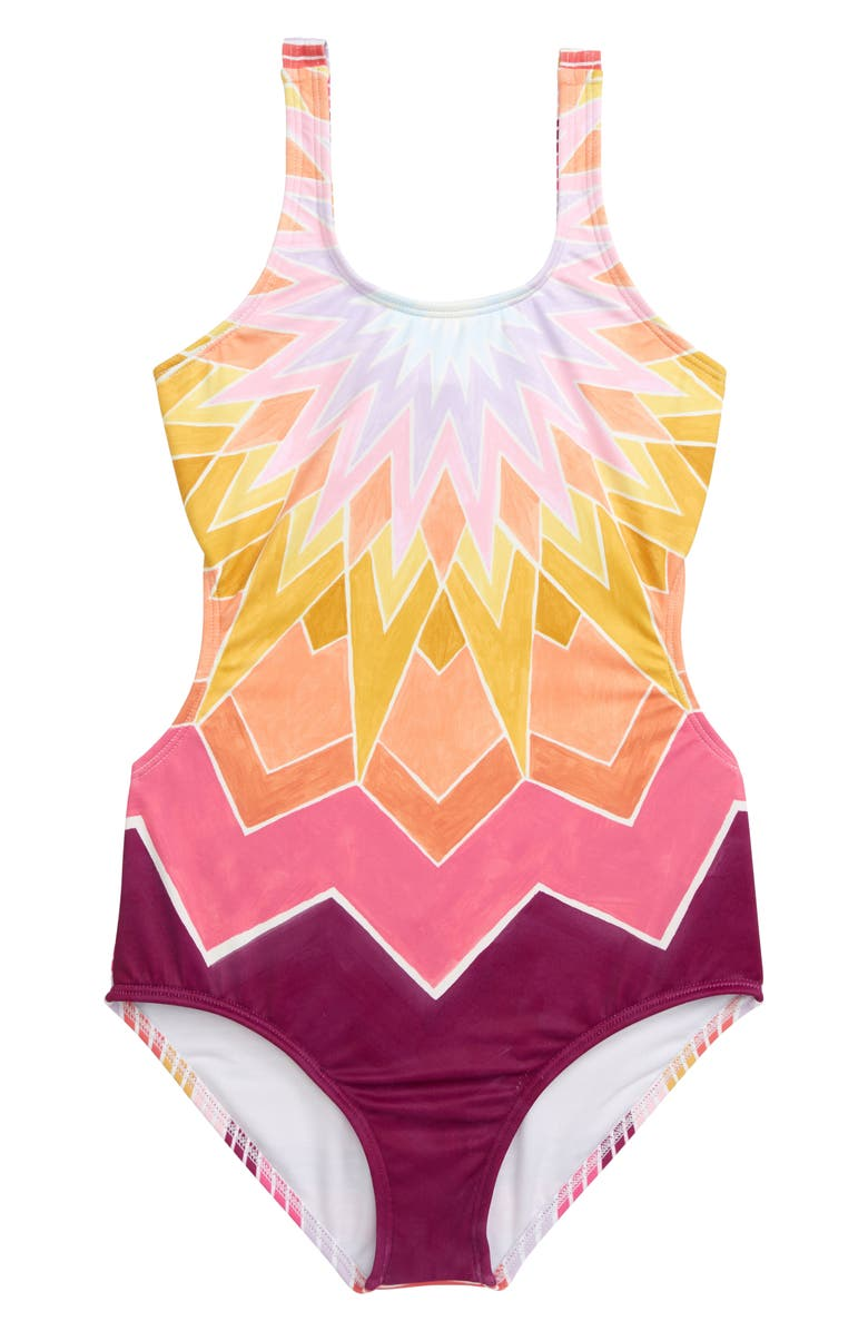 BILLABONG Ray of Sun One-Piece Swimsuit, Main, color, MULTI